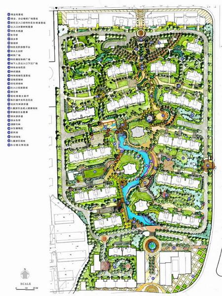 滨水商业住宅区景观广场设计说明